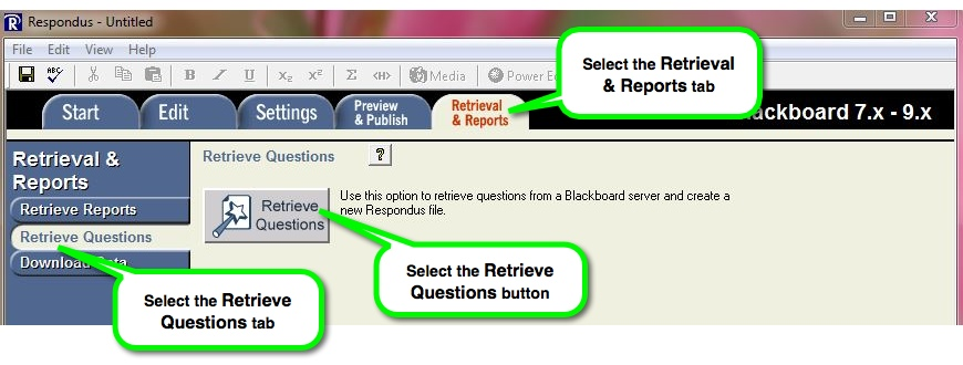 Retrieval & Reports tab