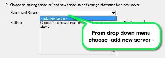 Respondus - add new server