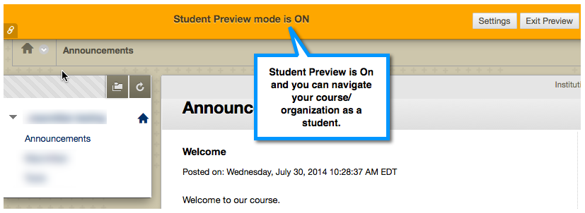 Student Preview On
