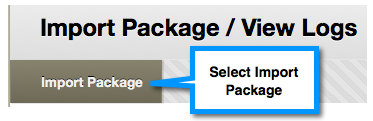 Import Package button
