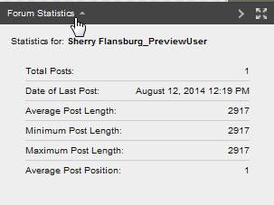 forum statistics