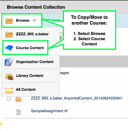 Browse and Select Course Content